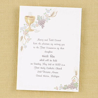 Chalice and Grape - Invitation