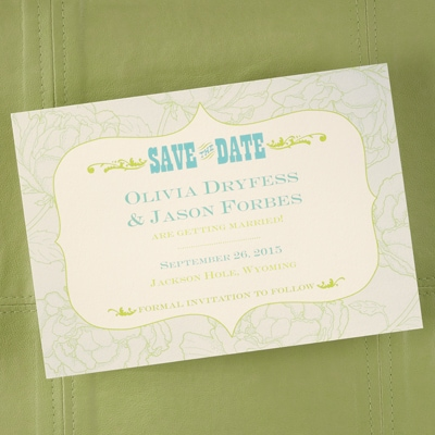Simply Western - Save the Date Card