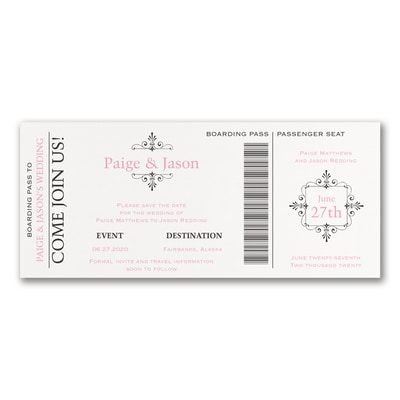 Boarding Pass - Save the Date