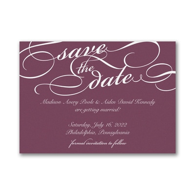 Contemporary Elegance - Save the Date
