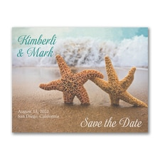 Save The Date: Starfish in the Sand