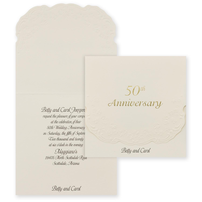 50th Anniversary Invitation Anniversaries Vow Renewals