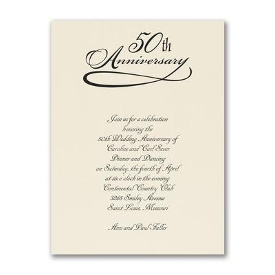 50 Years Celebration - Invitation - Ecru