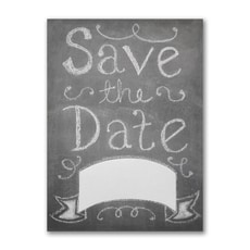 Chalkboard Banner - Save The Date