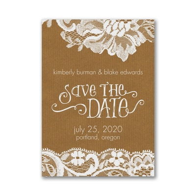 Swirls and Lace - Save the Date