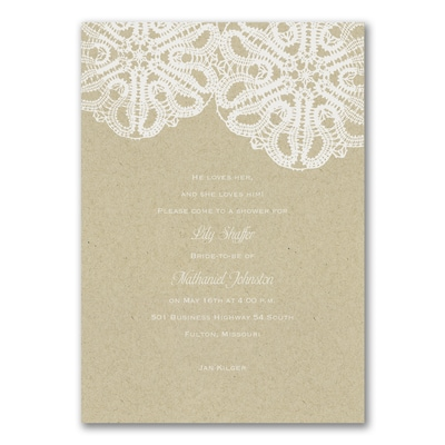 romantic love bridal shower invitation