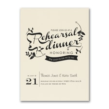 Rehearsal Dinner Invitation - Ecru
