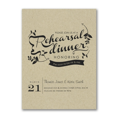 Rehearsal Dinner Invitation - Kraft