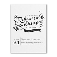 Bridal Shower Invitation: Rehearsal Dinner Invitation