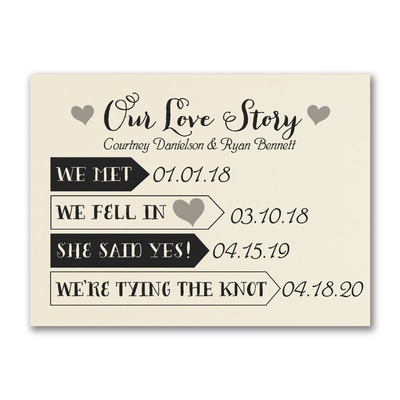 Our Love Story - Save the Date - Ecru