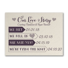 Our Love Story - Save The Date