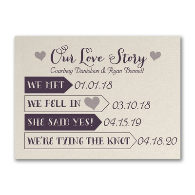 Our Love Story - Save the Date - Ecru Shimmer