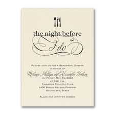 The Night Before I Do - Invitation - Ecru