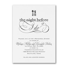The Night Before I Do - Bridal Shower Invitation