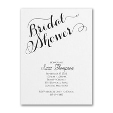 Bridal Shower Elegance - Bridal Shower Invitation