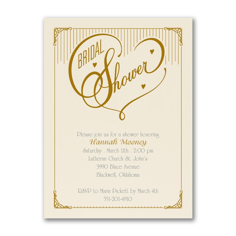 Heart Bridal Shower - Invitation - Ecru > Bridal Shower Invitations ...