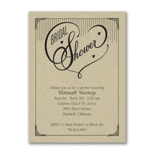 Bridal Shower Invitation: Heart Bridal Shower