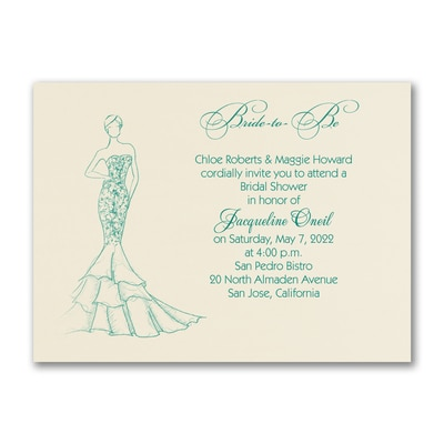 Shower Mermaid Dress - Invitation - Ecru