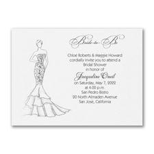 Shower Mermaid Dress - Bridal Shower Invitation