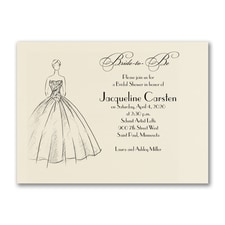 Bridal Shower Invitation: Shower Ball Gown