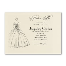 Shower Ball Gown - Bridal Shower Invitation