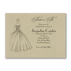 Shower Ball Gown - Bridal Shower Invitation