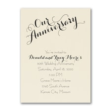 Our Anniversary - Invitation - Ecru