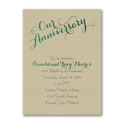 Our Anniversary Invitation Kraft Anniversary Invitations