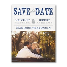 Save The Date: Vintage Stamp