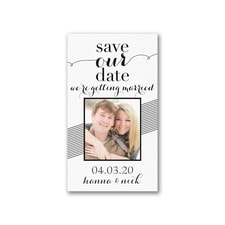 Striped to Perfection - Save the Date Magnet
