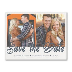 Stylish Brush Stroke - Save The Date