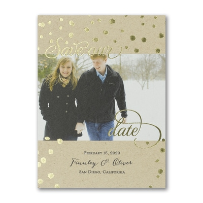 Shimmering Kraft - Save the Date