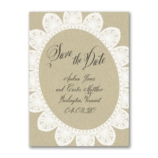 Kraft and Lace - Save The Date
