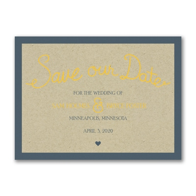 Curly Kraft Ampersand - Save the Date