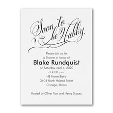 Soon to be Hubby - Bridal Shower Invitation