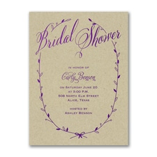 Bridal Shower Invitation: Sweet Swag Invitation