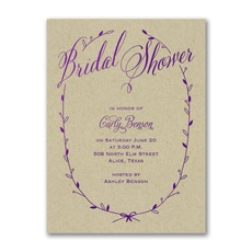 Sweet Swag Invitation - Bridal Shower Invitation