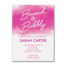 Brunch and Bubbly - Bridal Shower Invitation