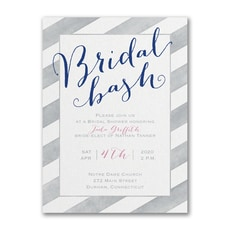 Striped in Style - Bridal Shower Invitation