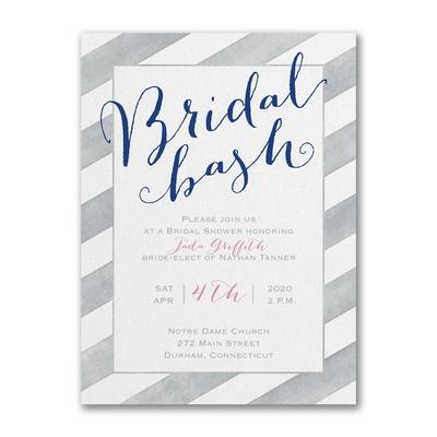 Striped in Style - Bridal Shower Invitation