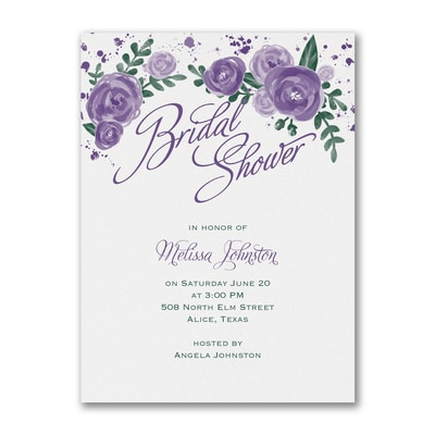 Floral Splash - Invitation