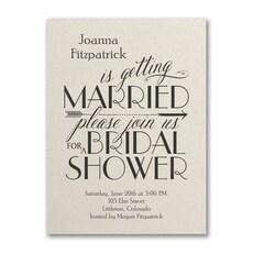 Curls and Arrow - Bridal Shower Invitation