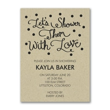 Bridal Shower Invitation: Showered in Love