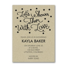 Showered in Love - Bridal Shower Invitation