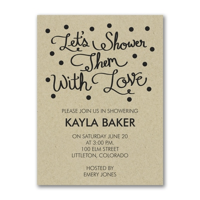 Showered in Love - Invitation - Kraft