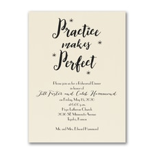 Practice Makes Perfect - Invitation - Ecru