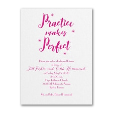 Bridal Shower Invitation: Practice Makes Perfect