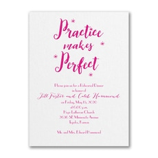 Practice Makes Perfect - Bridal Shower Invitation