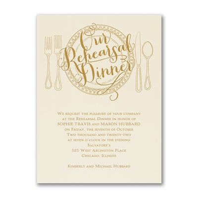 Dinner Classic - Invitation - Ecru