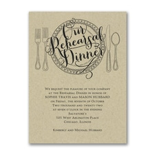 Bridal Shower Invitation: Dinner Classic